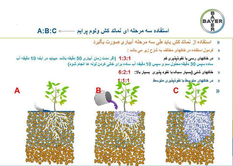 استفاده سه مرحله ای از ولوم پرایم